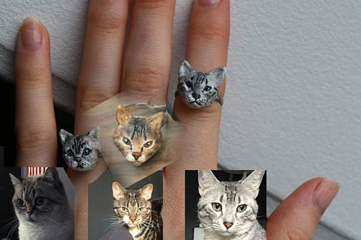 Custom Made Cat Ring
