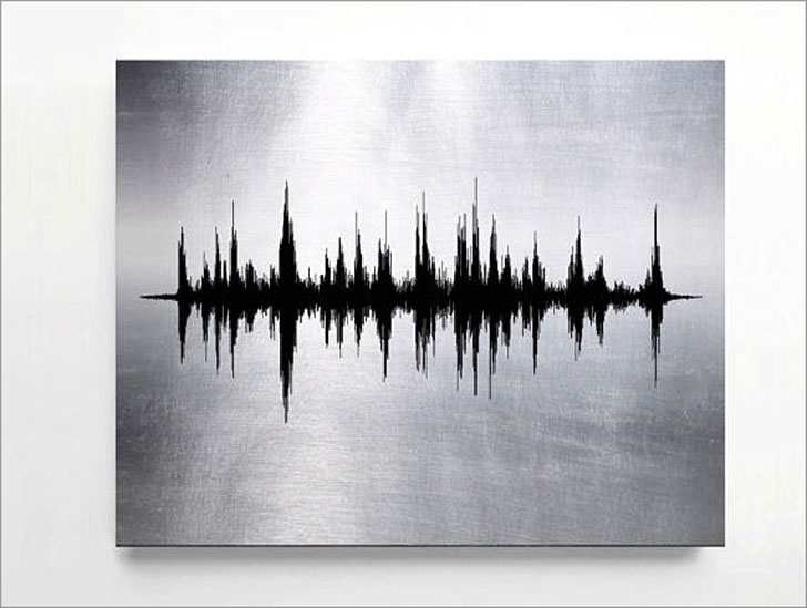 Custom Sound Wave Metal Prints