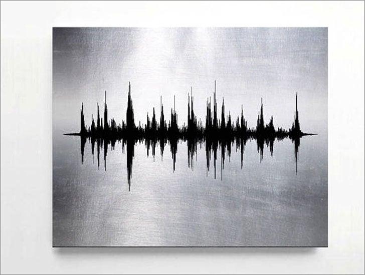 Custom Sound Wave Metal Prints