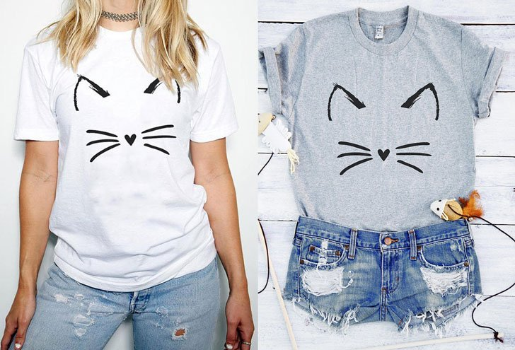 Cute Cat Tee - Cat Gifts For Cat Lovers
