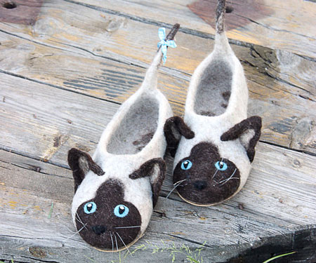 Cute Handmade Eco Wool Animal Slippers