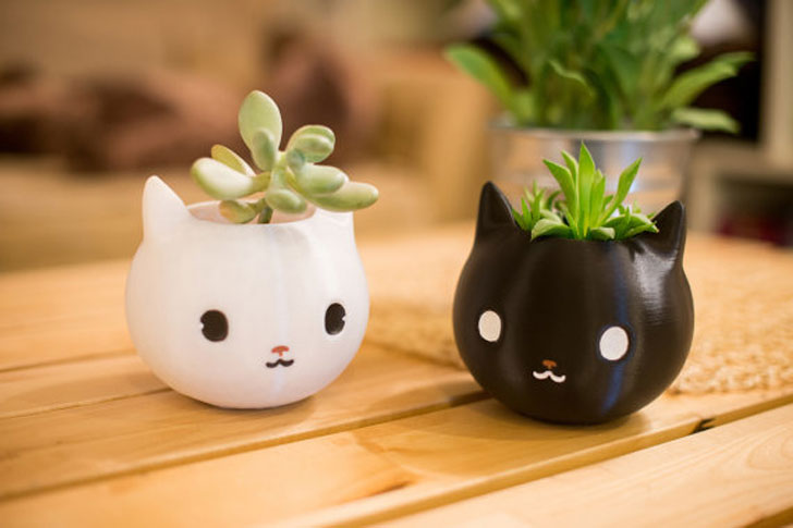 Cute Kitty Planters - Cat Gifts For Cat Lovers