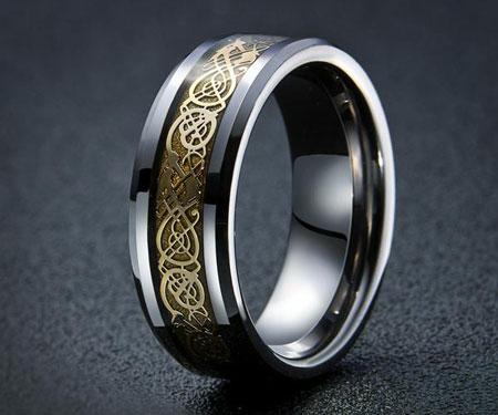 Dragon's Breath Steel Vikings Rings