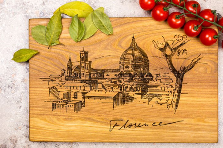 Florence Italy Scene Chopping Board