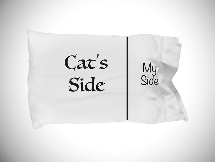 Funny Cats-Side Bedroom Pillow