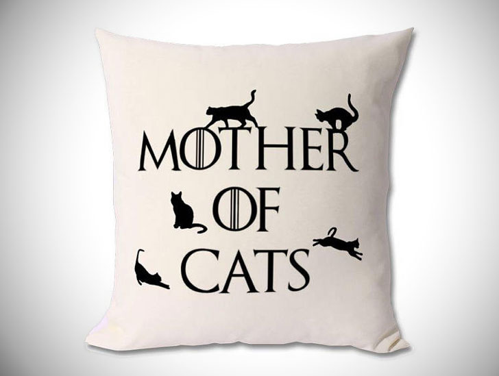 Game Of Thrones Theme Mother of Cats Cushion - Cat Gifts For Cat Lovers
