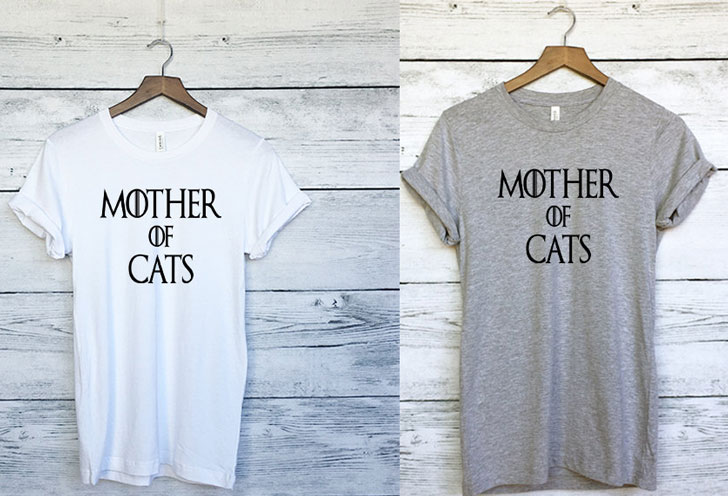Game Of Thrones Theme Mother of Cats T-Shirt - Cat Gifts For Cat Lovers