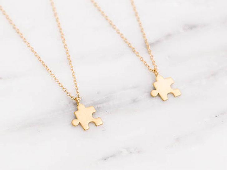 Gold Puzzle Friendship Necklaces