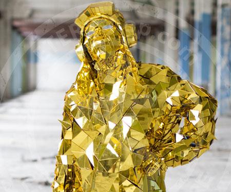 Golden Mirror Man Suits