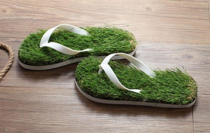 Grass Flip Flop Sandals