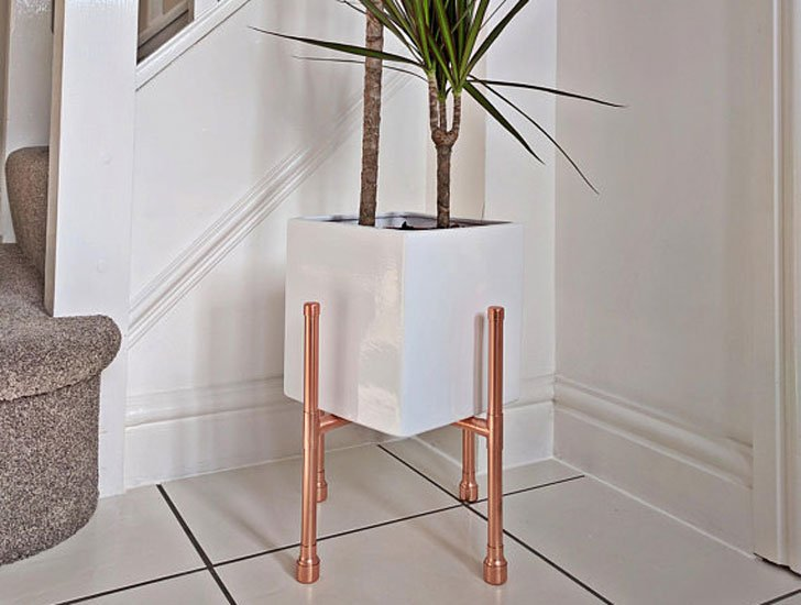 Indoor Copper Planter Stand