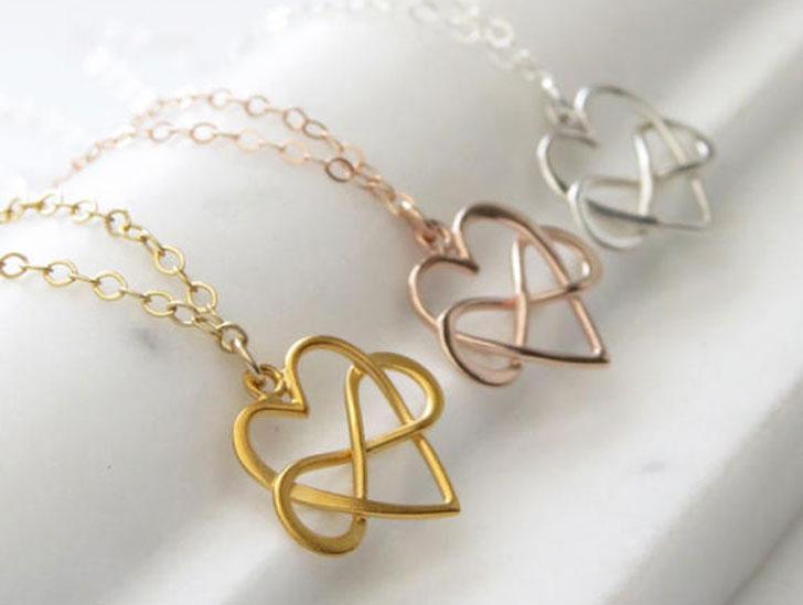 Infinity Heart Eternal Love Best Friend Necklaces - best friendship necklaces