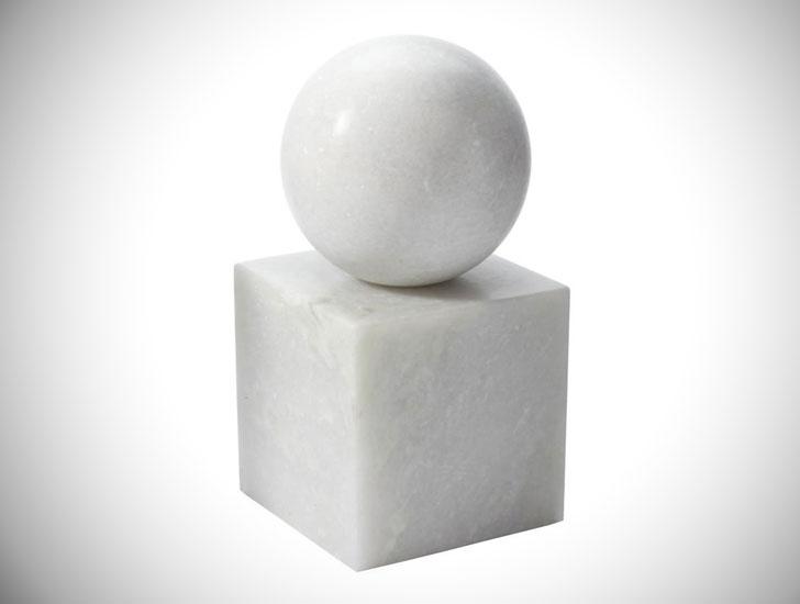 Marble Minimalist Book End