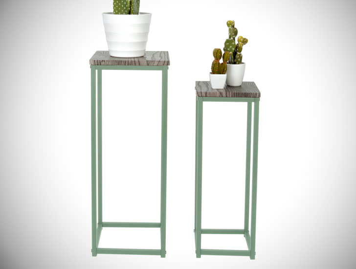 Marquis & Daw Metal and Wood Plant Stands