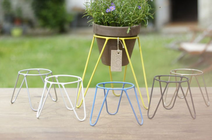 Metal Pot Desk Plant Stands