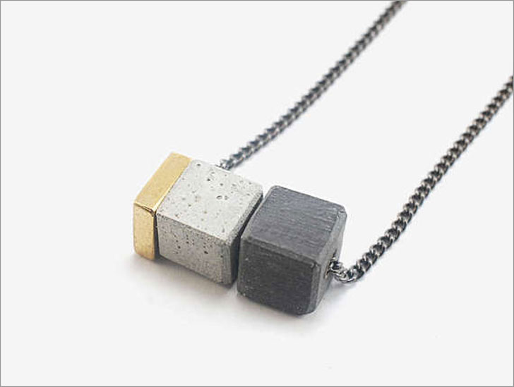 Minimalist Concrete Necklace