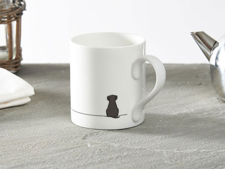Minimalist Sitting Dog Mug
