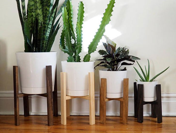 Modern Retro Plant Stands