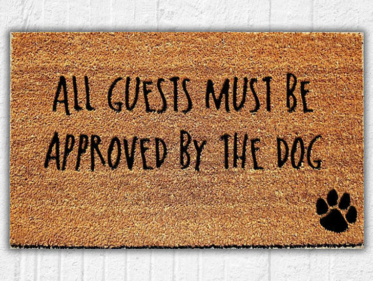 Must Be Approved by the Dog Welcome Mat