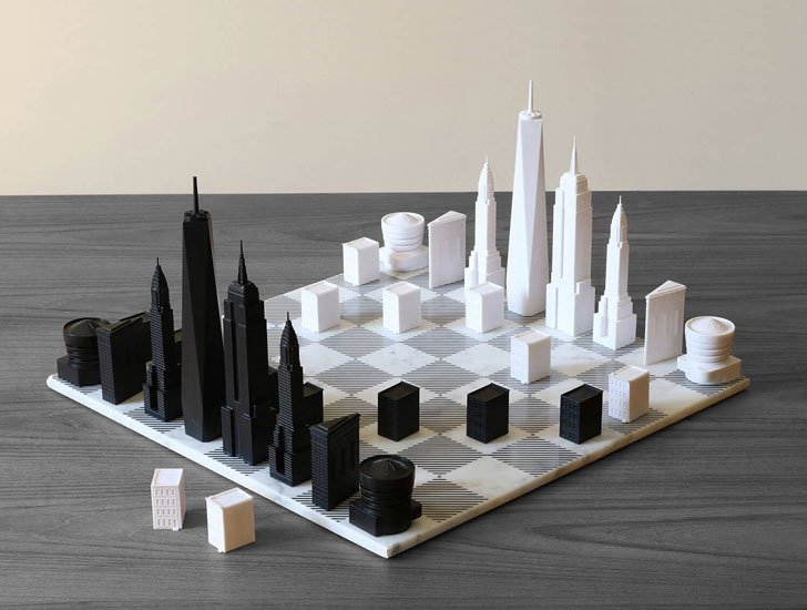 NYC Skyline Chess