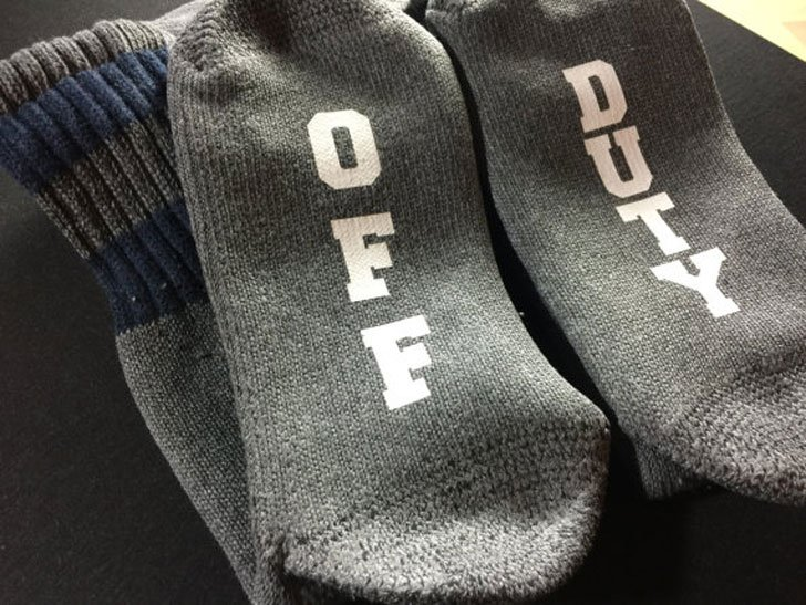 Off Duty Police Socks - gifts for police officers
