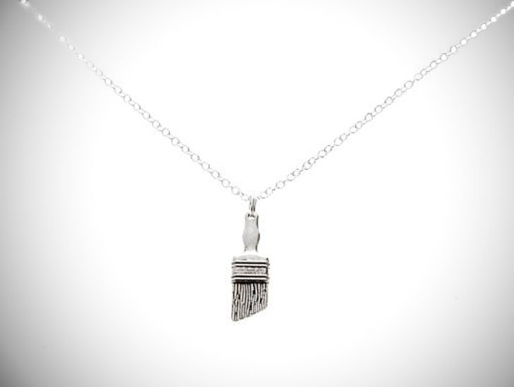 Paintbrush Necklace