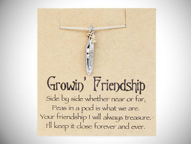 Peas in a Pod Growin' Friendship Necklace