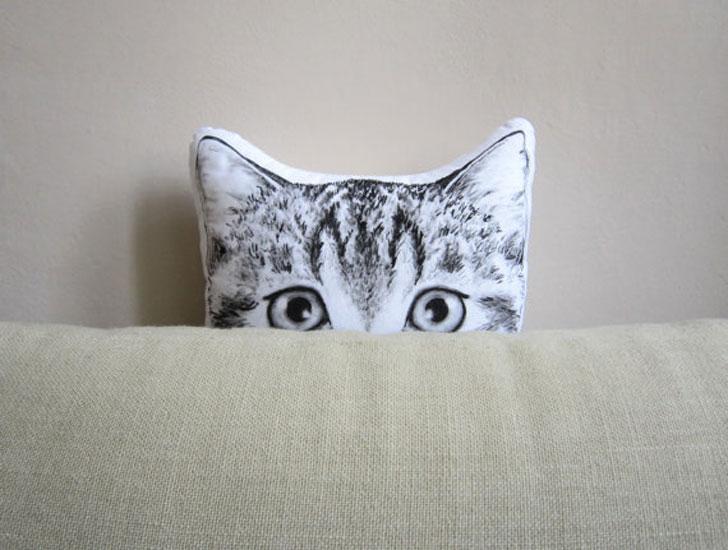 Peeking Cat Cushions - Cat Gifts For Cat Lovers
