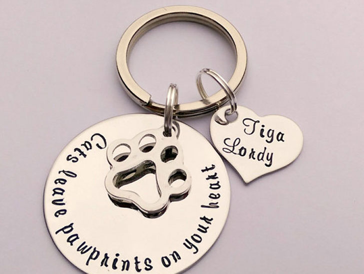 Personalised Cat Keyring