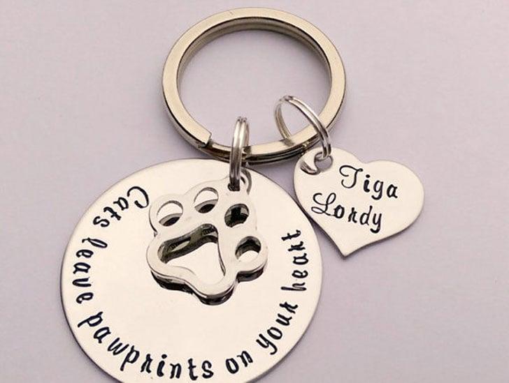 Personalised Cat Keyring