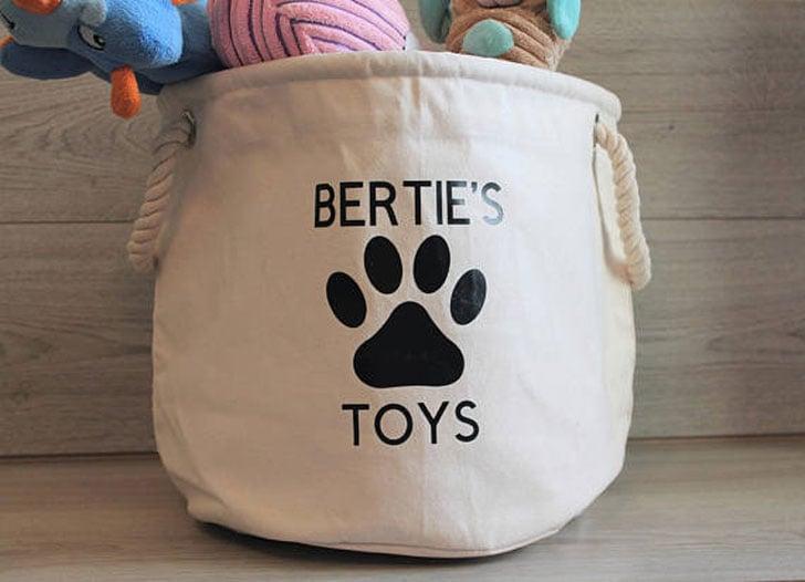 Personalised Dog Toy Basket