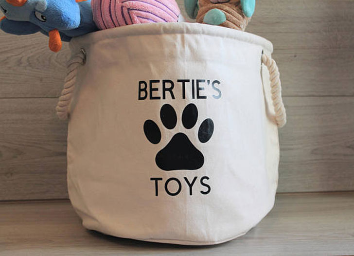 Personalised Dog Toy Basket
