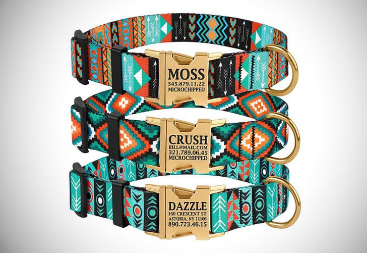Personalised Tribal Dog Collars
