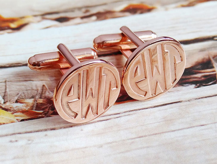 Personalized Monogram Initial Cufflinks