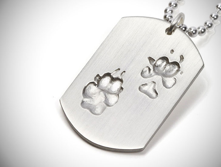 Personalized Pawprint Dogtag Pendant