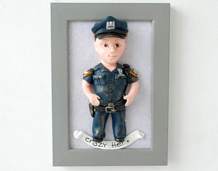 Personalized Police Officers Caricature Gift