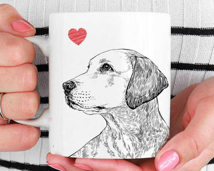 Pet Portrait Coffee Mugs