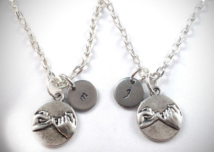 Pinky Promise BFF Necklaces - best friendship necklaces