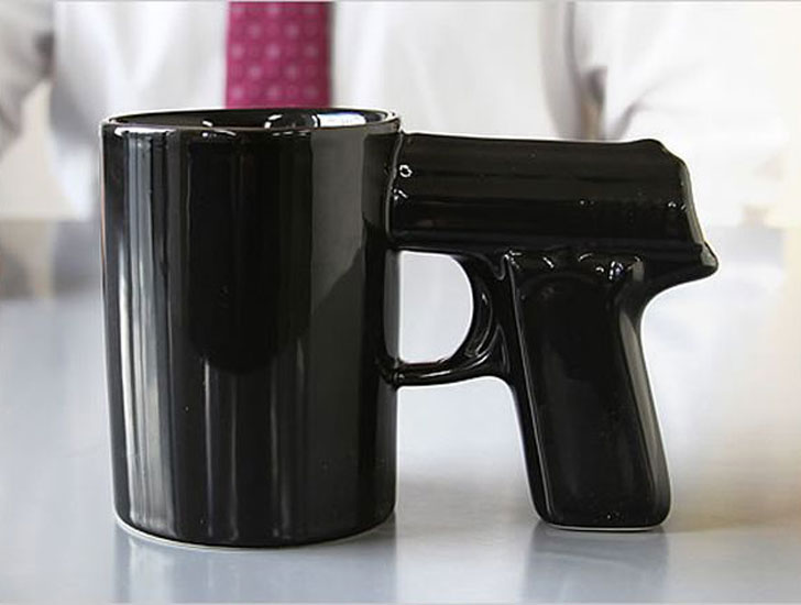 Pistol Grip Mug - gifts for police officers