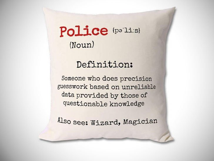 Police Officer Definition Pillow - gifts for police officers