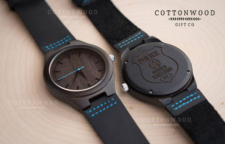 Police Officer Thin Blue Line Watch - gifts for police officers