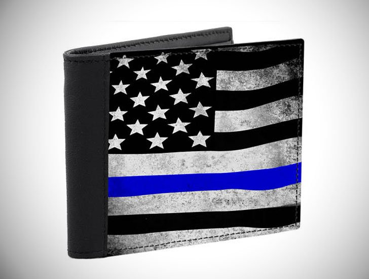 Police Officers Thin Blue Line Wallet - gifts for police officers