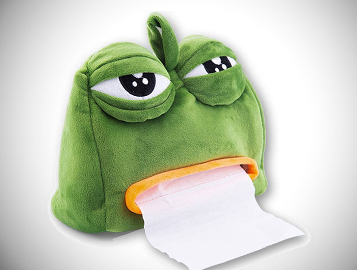 Sad Frog Tissue Dispenser Cover