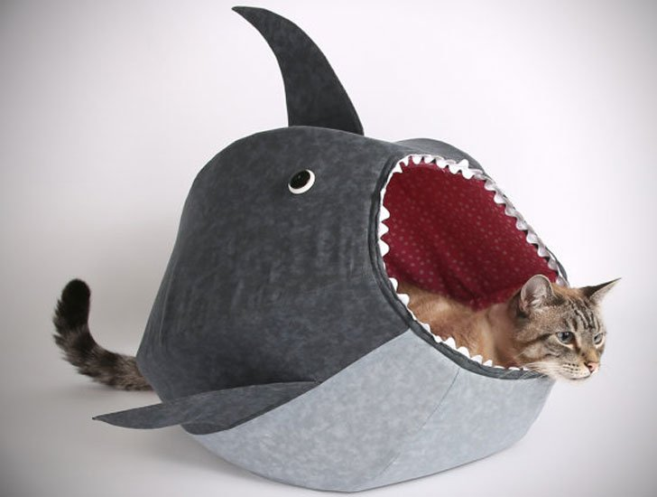 Shark Cat Bed - Cat Gifts For Cat Lovers