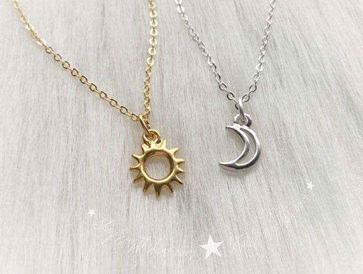 Sun and Moon Friendship Necklaces - best friendship necklaces