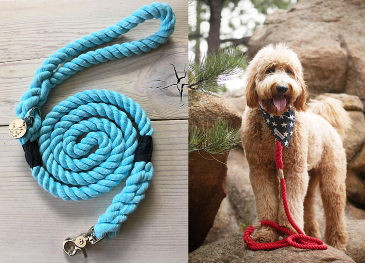 The Monochrome Rope Dog Leash
