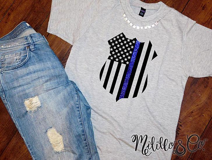 Thin Blue Line Cops Tee