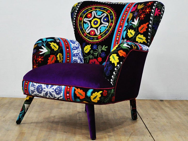 Turkish Designed Suzani Armchairs