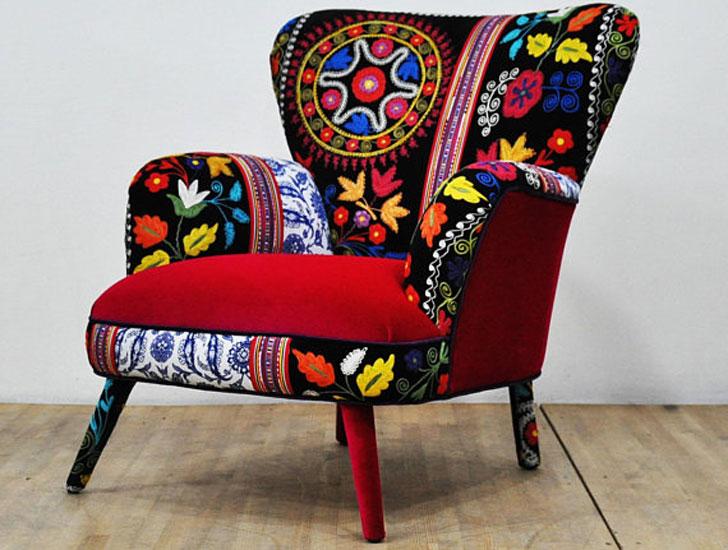 Turkish Designed Suzani Armchairs