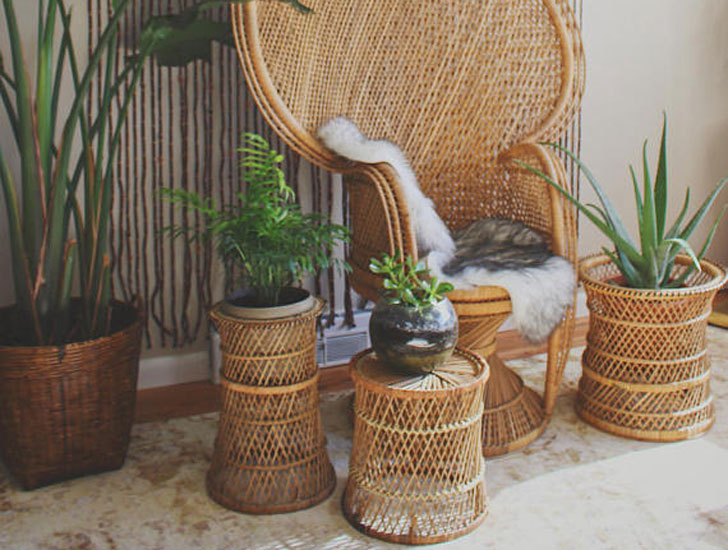 Wicker Plant Stands